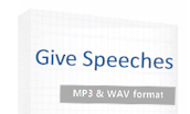 Give speeches